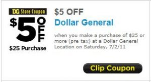 photo regarding Printable Dollar General Coupons identified as Greenback All round: $5 off $25 Printable coupon - MyLitter - One particular