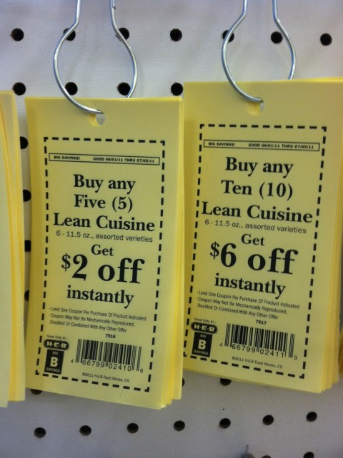 every now and then but so often are the same yellow coupons but these have a b in the lower left corner like the ones above these are heb store