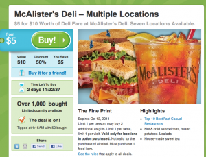 Mcalister's coupon code