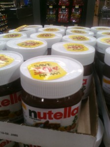 graphic about Nutella Printable Coupon called $1 off Nutella Printable Coupon! + Walmart Problem