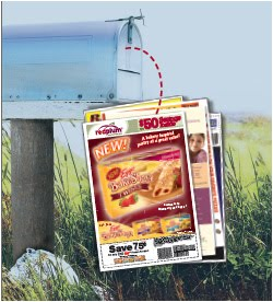 Red plum coupons mailed to your house