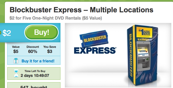 picture regarding Blockbuster Printable Coupon identified as Groupon: Blockbuster Video clip and Houston Motorsports