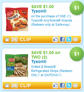 coupons for tyson chicken products
