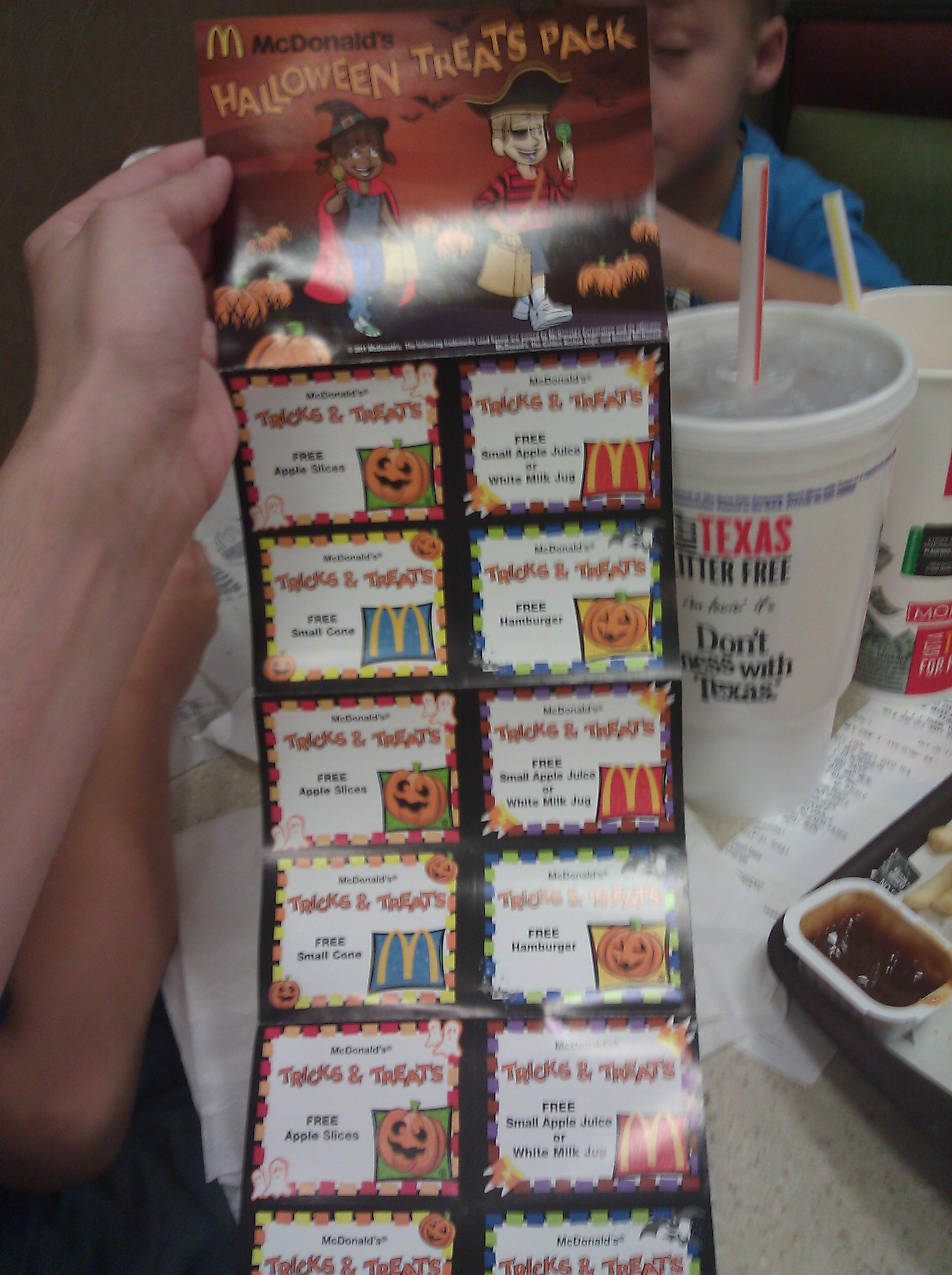 Mcdonalds Halloween Booklets Available Only 1 Mylitter One Voucher Mc Donalds Deal At A Time