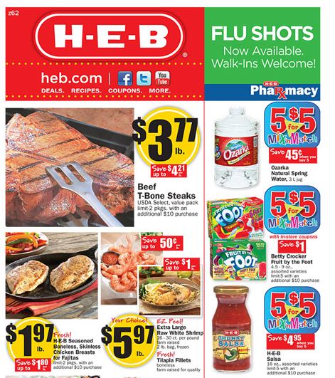 Meal Deals. HEB grocery stores offer a weekly