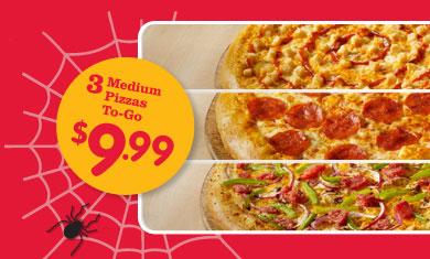 Any 3 Medium Pizzas. From: £ Any 3 Medium (