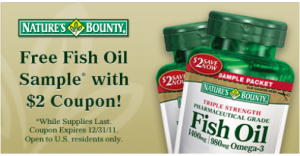 Free Fish Oil Sample Coupon Mylitter One Deal At A Time