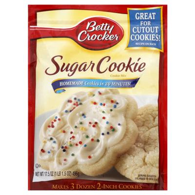 betty crocker sugar cookie mix instructions