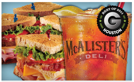 Groupon: McAlister's Deli $5 for a $10 gift card
