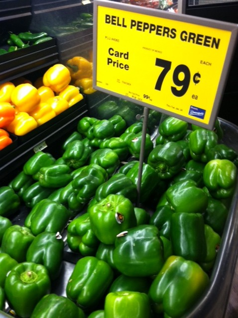 Stuffed Green Peppers Recipe + Green Bell Peppers $.79 at Randalls ...