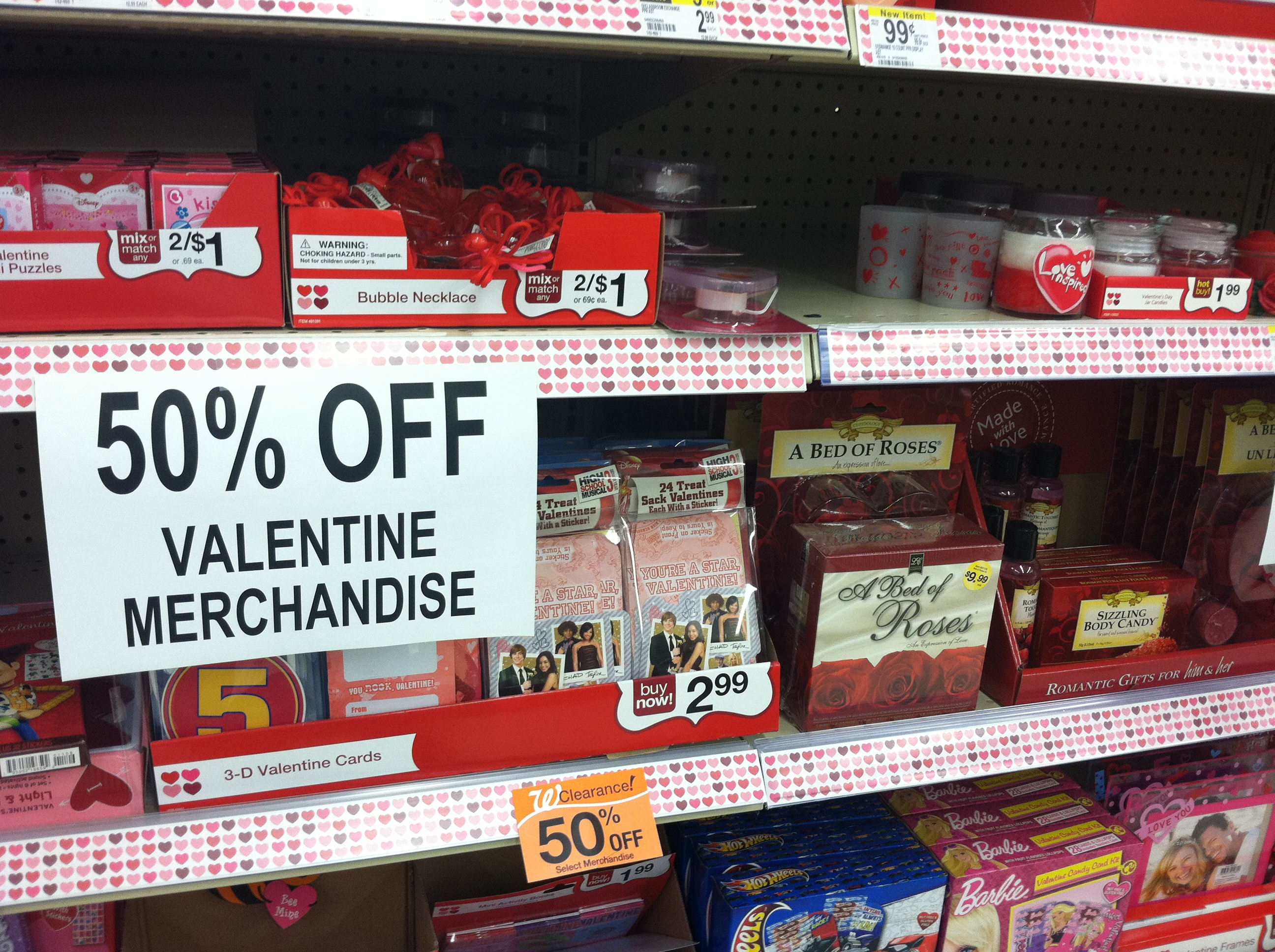 Valentines Clearance 50% off Walgreens and Walmart!