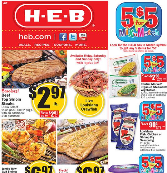 HEB Weekly Deals 2/22 - 2/28
