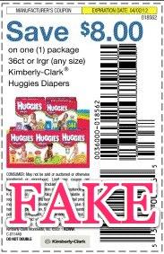 Fraudulent Coupon 8 Huggies Fake Coupon Mylitter One Deal At