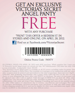 Victoriassecret coupon codes