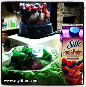 How to make a breakfast Smoothie kids will drink! {with veggies!}
