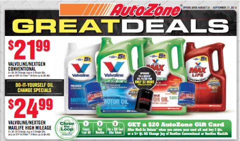 Hot money maker at autozone on valvoline oil for How much is motor oil at autozone