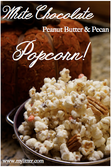 How to make White Chocolate Popcorn Recipe ( Peanut Butter & Pecan ...