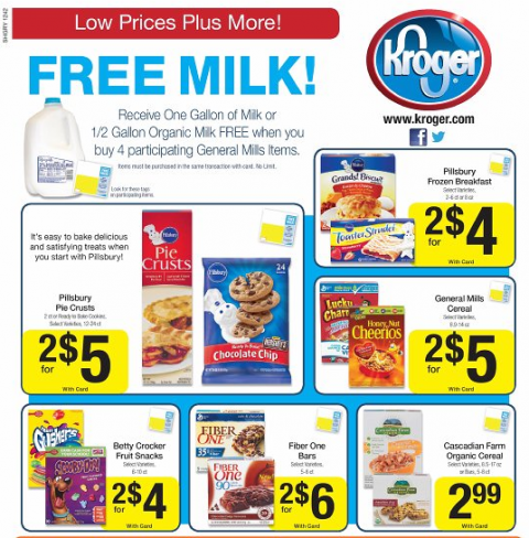 FREE Milk at Kroger + Coupon Matchup - MyLitter - One Deal ...
