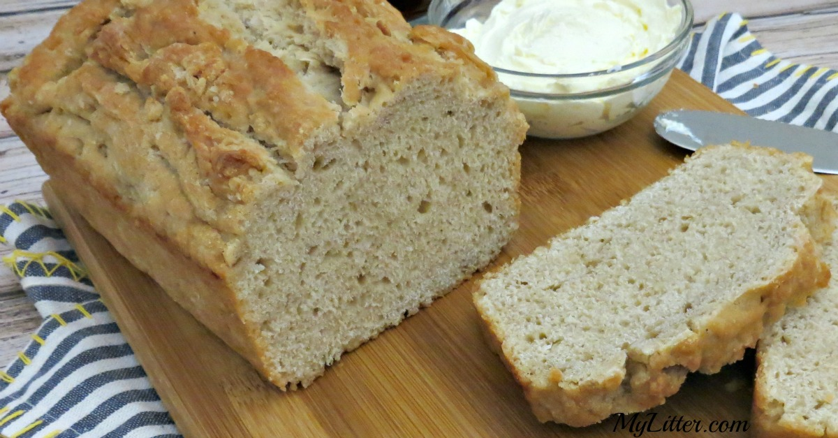 This delicious 3 Ingredient Beer Bread recipe is so easy to make and only takes an hour to bake!