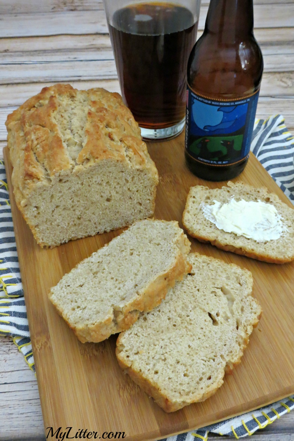 This 3 Ingredient Beer Bread Recipe is so easy & delicious! It goes great with a hearty stew and salad for a full meal. A quick bread recipe that everyone will keep asking for!