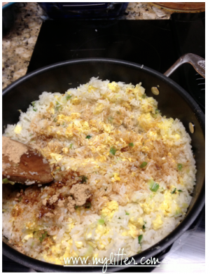 Making fried rice