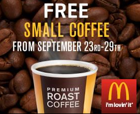 McDonalds is handing out free cups of coffee this week. Through next Monday, you can grab a free small coffee just for walking in and asking for it. No purchase is needed.