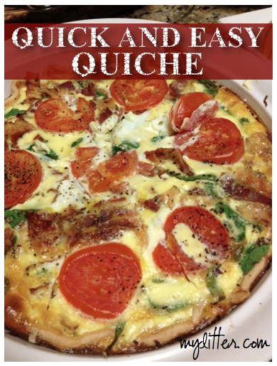 Quick and Easy Quiche Recipe - MyLitter - One Deal At A Time