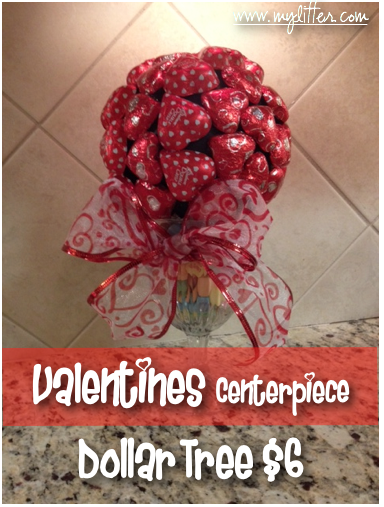 valentines centerpiece Dollar store