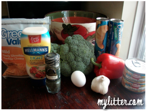 Ingredients croissant broccoli bread recipe