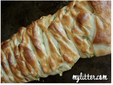 baked croissant broccoli braid pampered chef recipe