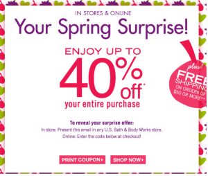 Bath & Body Works Coupon Codes Bath & Body Works - Shop our great fragrance finds in Body Care, Anti-Bac, World's Best Candle, Wallflowers, Gifts and Discontinued Fragrances. Shop online, read customer reviews or find a store near you!