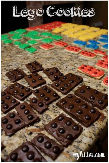 chocolate lego cookies