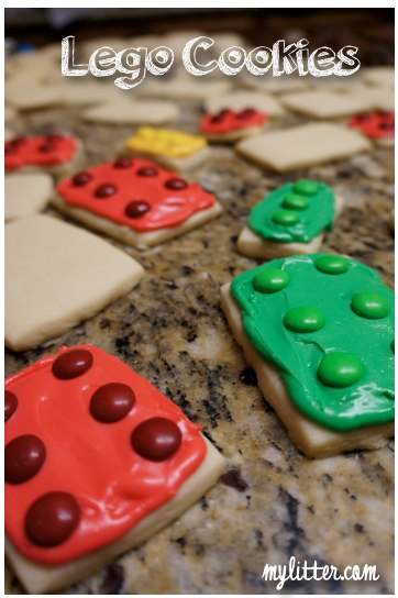 decorating lego cookies