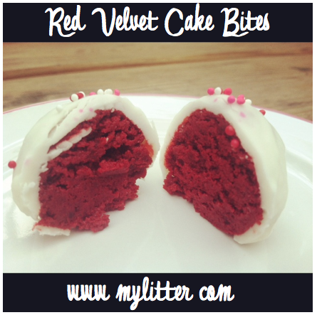 red velvet cake pops bites