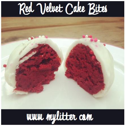red velvet cake pops bites