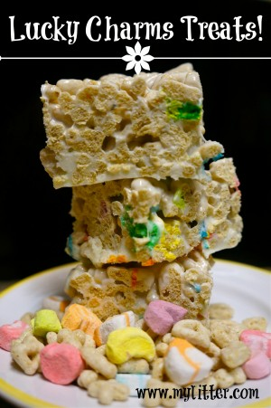 Lucky Charms Treats rice krispie treats