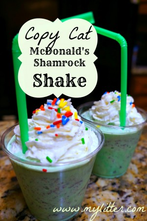 Copy cat mcdonalds shamrock shake recipe