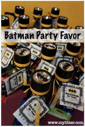kids batman party favors, batman flashlight