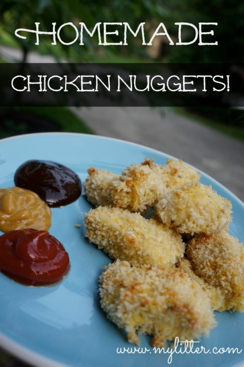 the other night, Homemade Chicken Nuggets ! They were so super easy ...