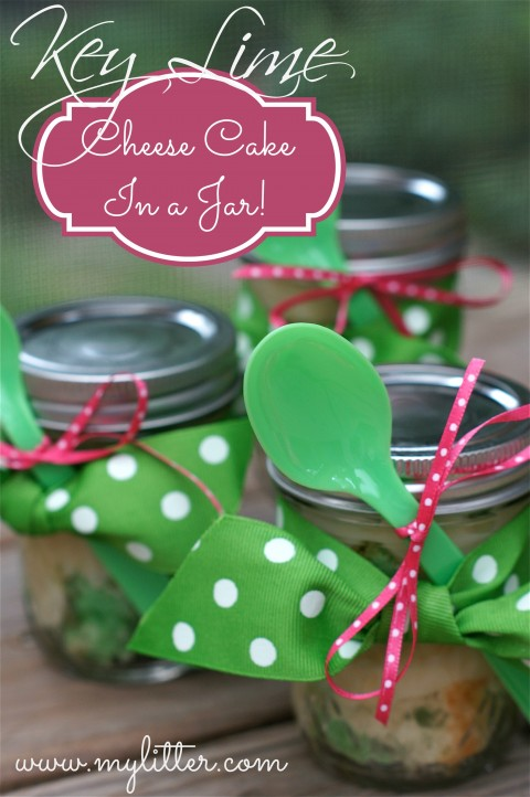 key lime Cheesecake in a jar