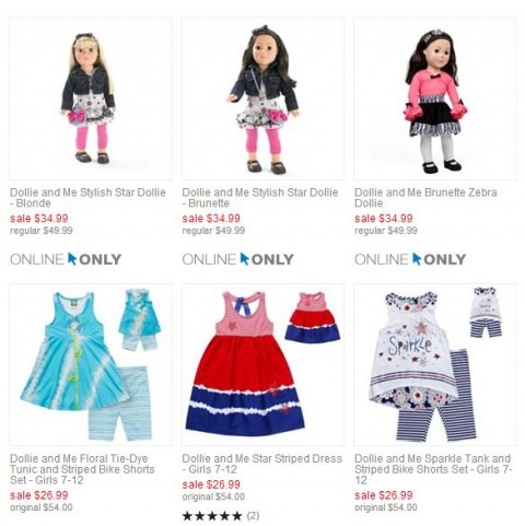 Kohl's: Dollie & Me on Sale - Free Shipping & Kohl's Cash at $50 {beat