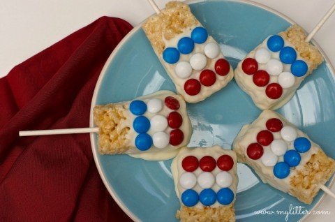 4th july rice krispie treats