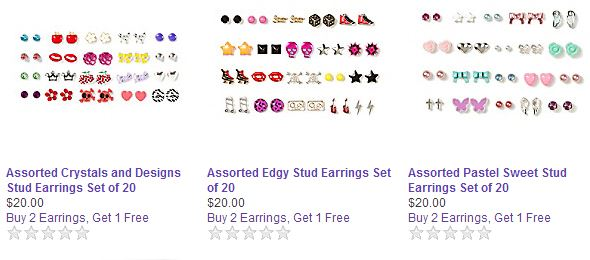 photo regarding Claire's Printable Coupons referred to as Claires: Sets of 20 for $20 Earring Sale Moreover B2G1! $10