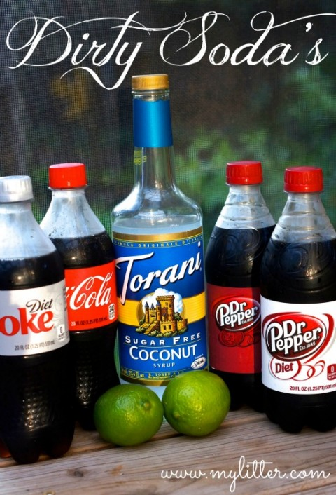 Dirty Diet Coke Diet Dr. Pepper Soda Recipe