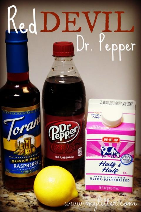 Red Devil Dr. Pepper Drink