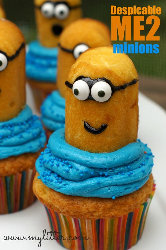 minion cupcakes from twinkies despicable me mylitter