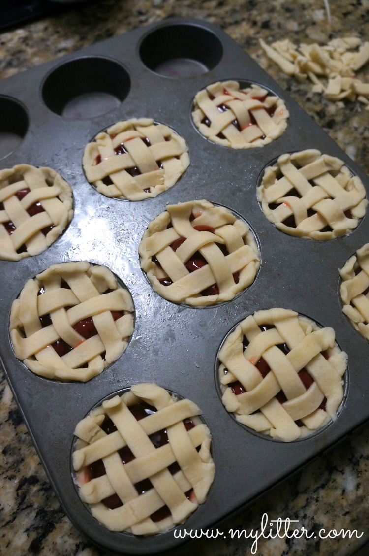 Homemade Mini Cherry Pies with Blue Bell Ice Cream - MyLitter - One ...