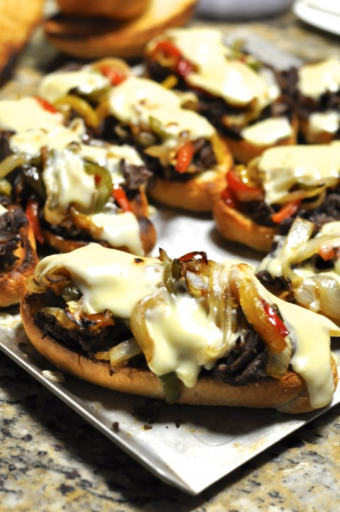 Broil Philly Cheese Steak Snadwiches