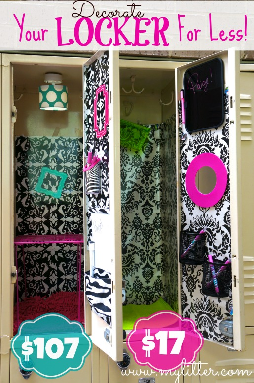 how to decorate a school locker for less - Locker Decoration Ideas