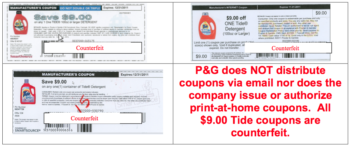 Fraudulent Coupons: Tide & Cottonelle {$5,000 REWARD ...